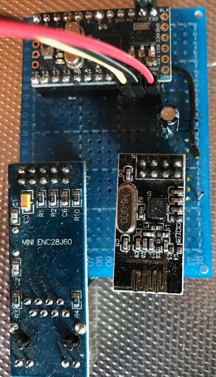 Can't ping Ethernet Gateway ENC28J60 + Arduino Nano Clone