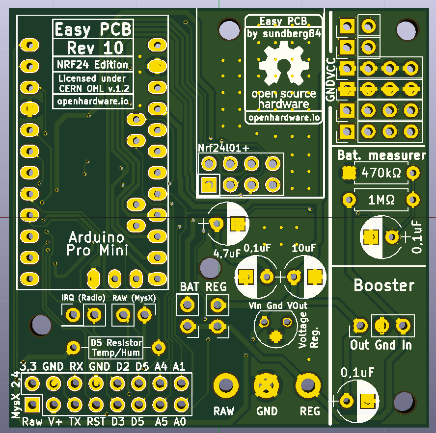 Easy/Newbie PCB for MySensors | OpenHardware.io - Enables Open ...