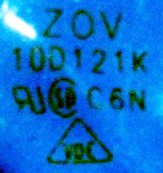 how to read varistor markings