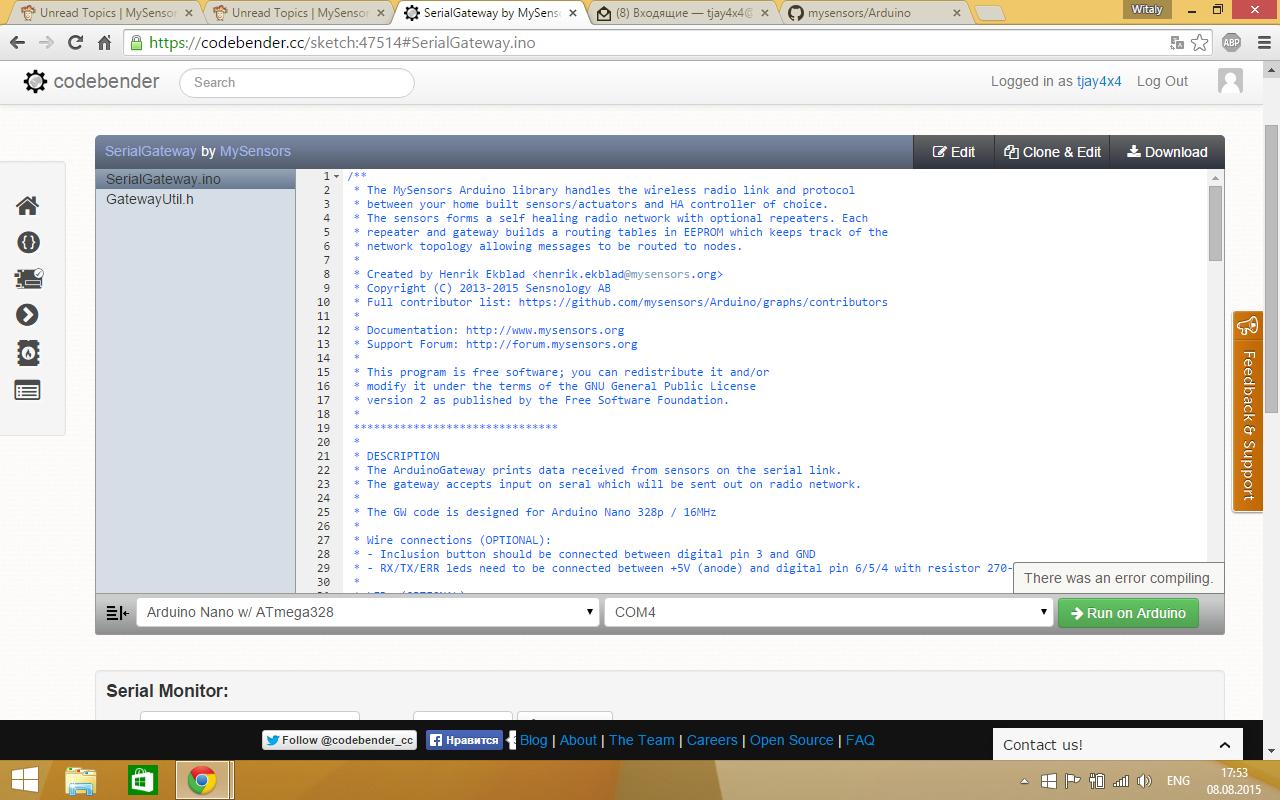 Error compiling serial gateway  Please help  | MySensors Forum