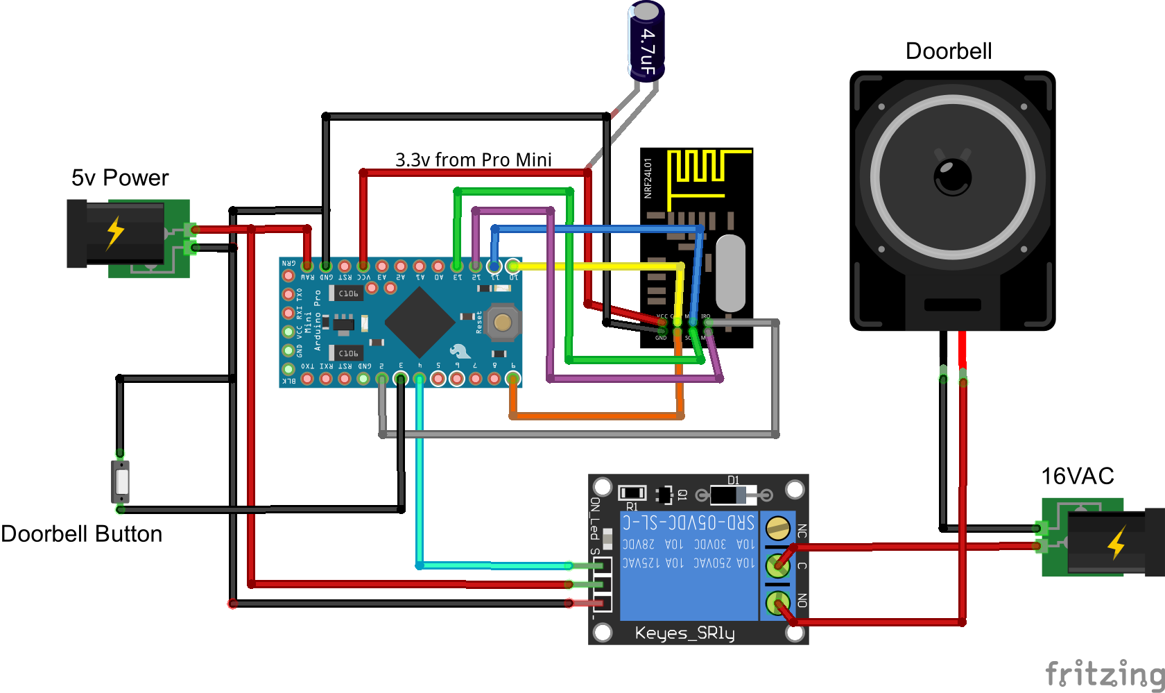 How To Doorbell Automation Hack Mysensors Forum Wiring A Honeywell