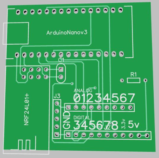diptrace footprint for radio module and arduino nano mysensors forum. Black Bedroom Furniture Sets. Home Design Ideas