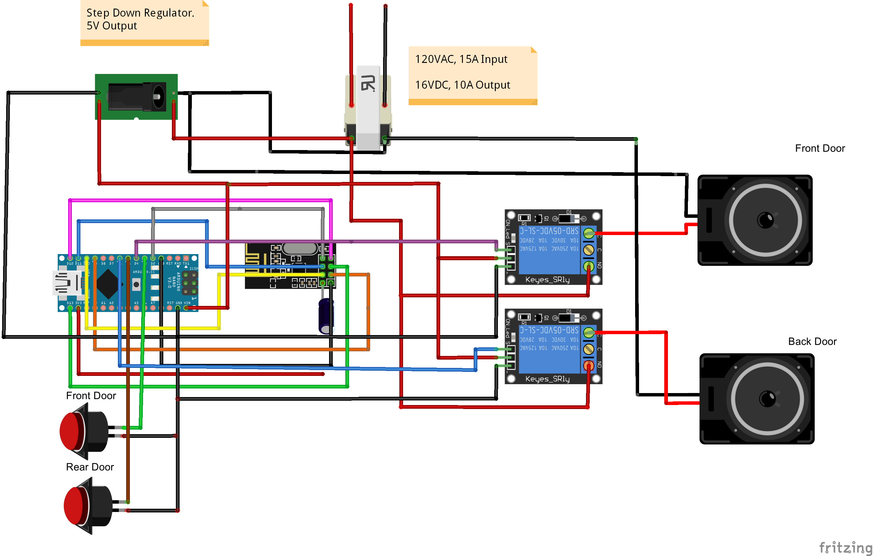 How To Doorbell Automation Hack Mysensors Forum Wiring For Outdoor Motion Light Free Printable Schematic