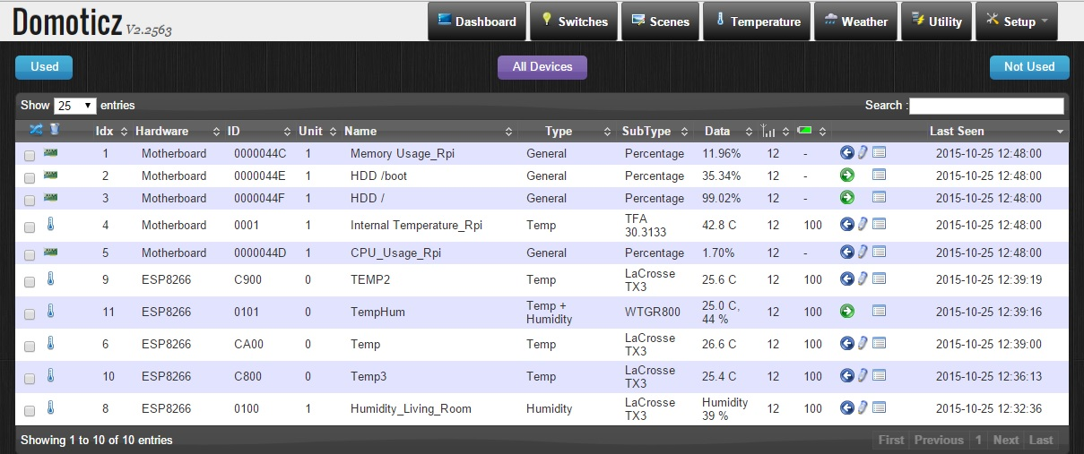 DomoticZ on RPi successfully running | MySensors Forum