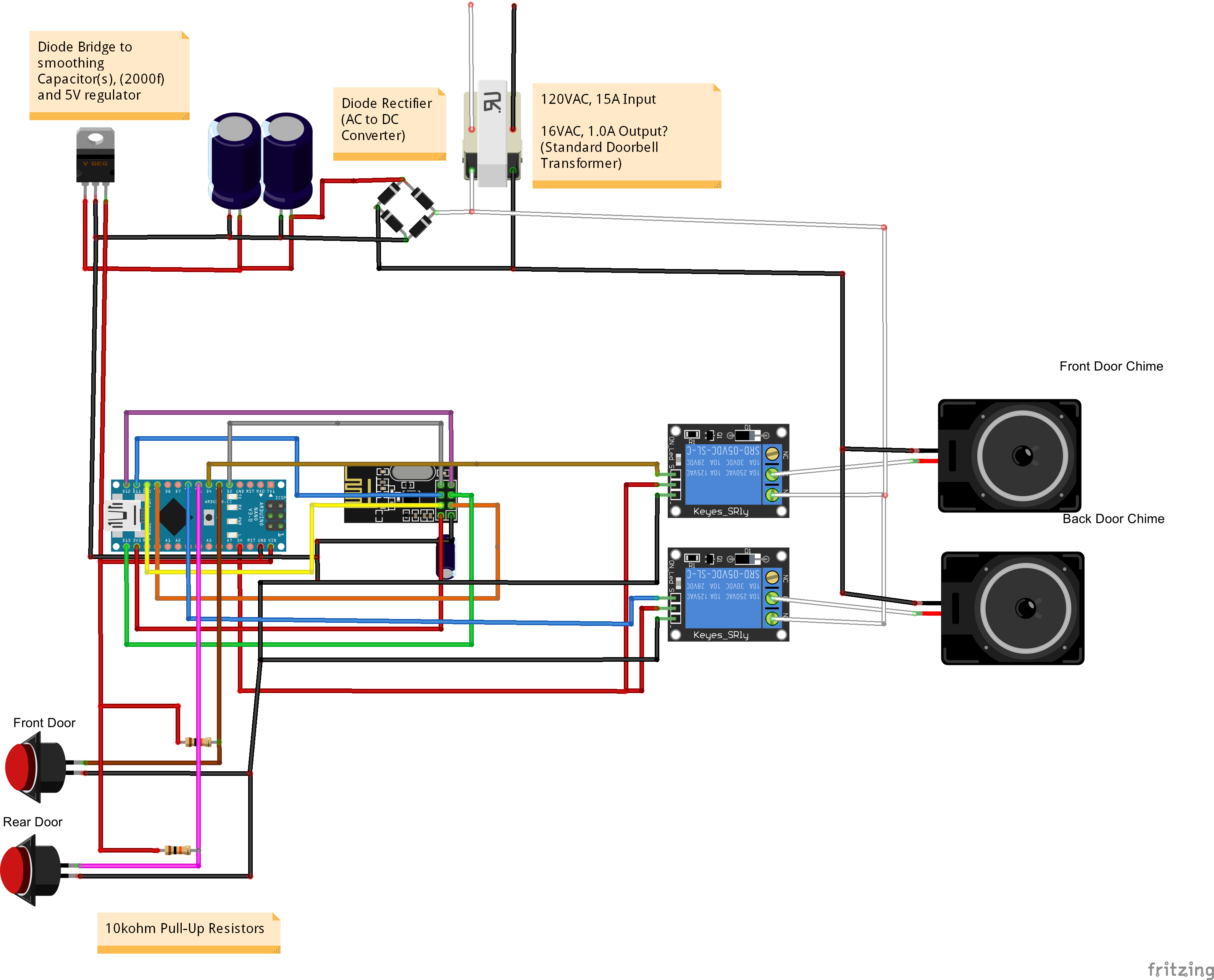doorbell wiring diagram diode doorbell image how to 2 door chime automation hack thanks petewill on doorbell wiring diagram diode