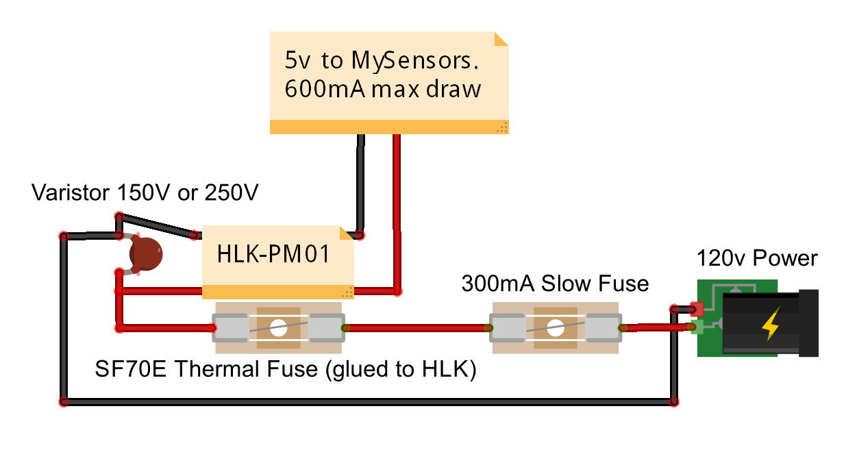 Safe In Wall Ac To Dc Transformers Mysensors Forum Usb 5v Power Supply Schematic Hlk Pm01 Wiring