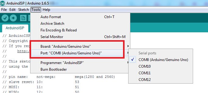 Tutorial] How to burn 1Mhz & 8Mhz bootloader using Arduino IDE 1 6 5