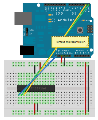 Tutorial] How to burn 1Mhz & 8Mhz bootloader using Arduino
