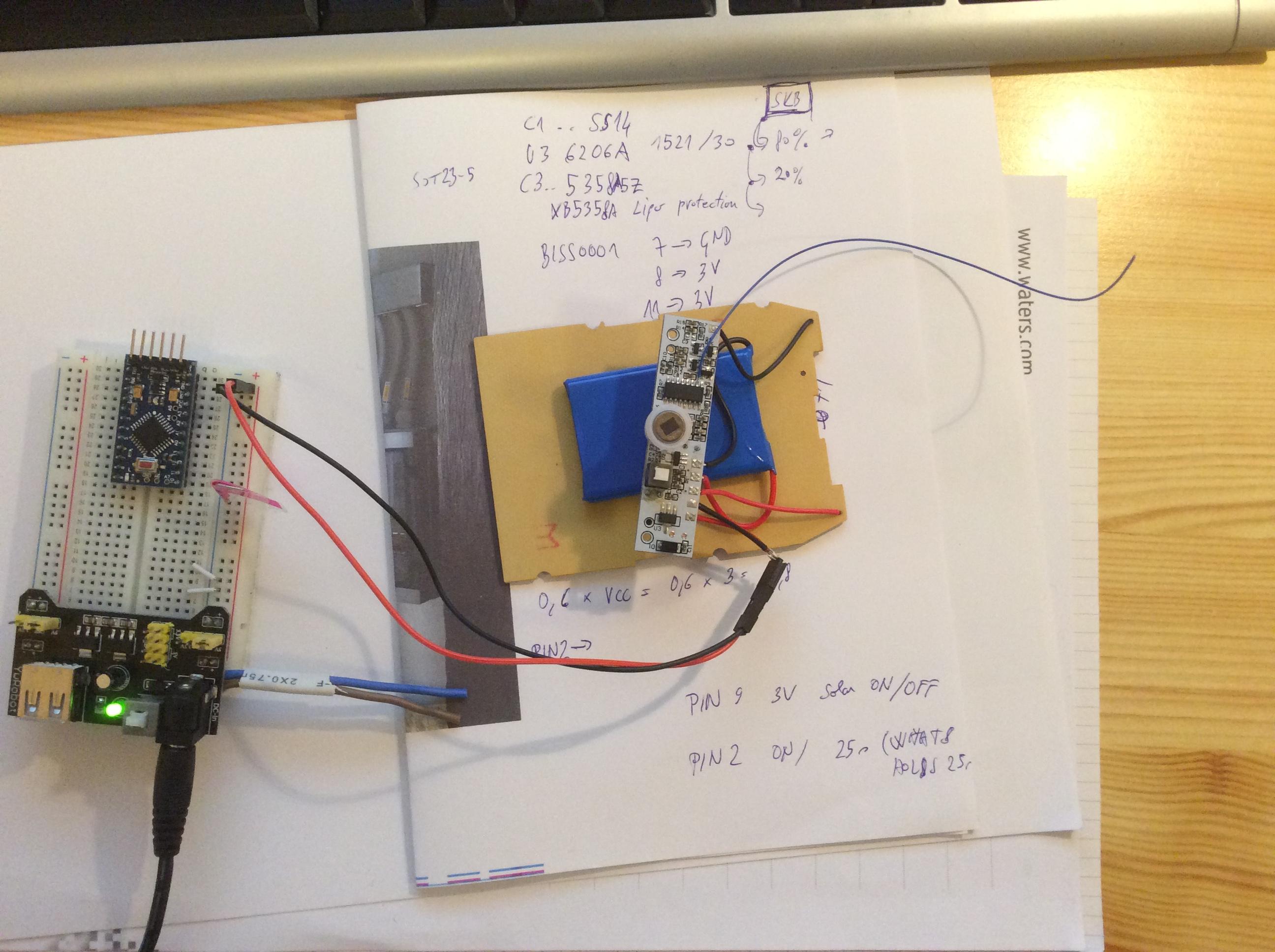 Chinese Solar Lipo Powered Pir Led Lamp Mysensors Forum Circuit Board Wiring Diagram Besides Motion Sensor