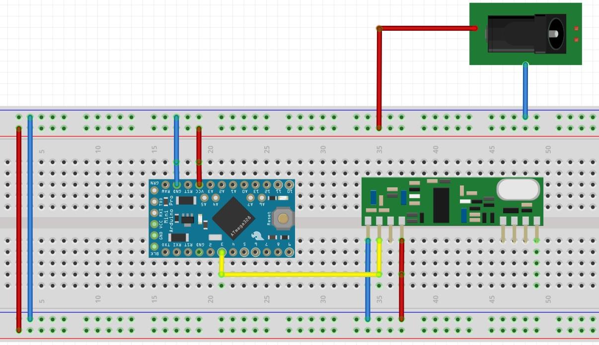 Alternative battery operated motion sensor using 433MHz sensors