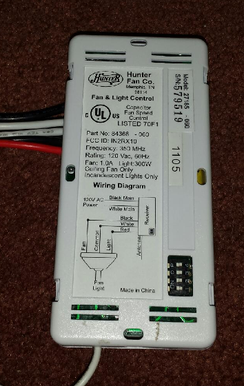 hunter ceiling fan remote wiring diagram hacking a remote control hunter ceiling fan controller mysensors  hunter ceiling fan controller