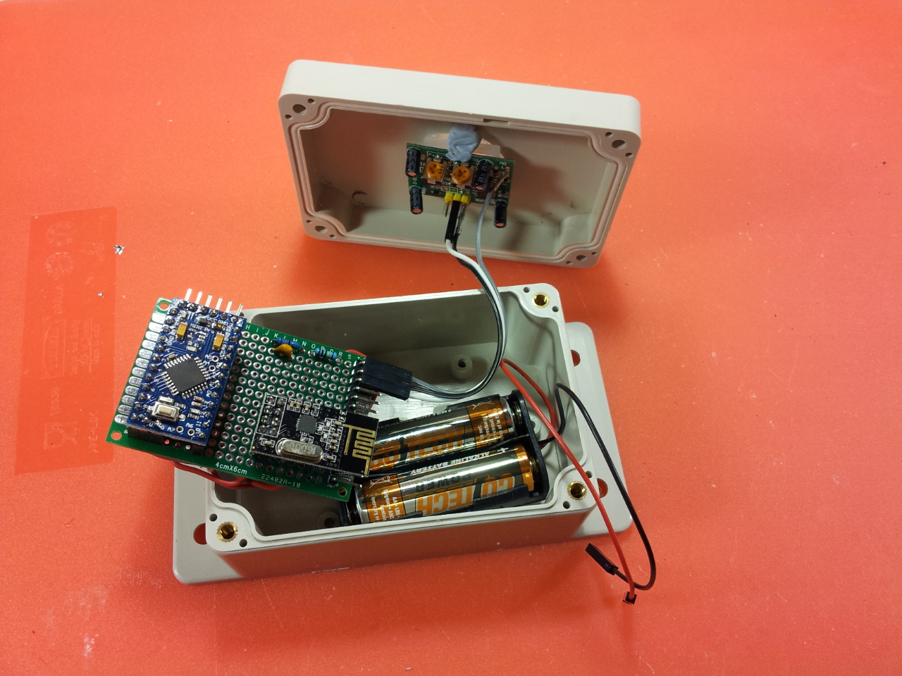 This Is A View Of A Light Sensor Circuit With Its Components Soldered