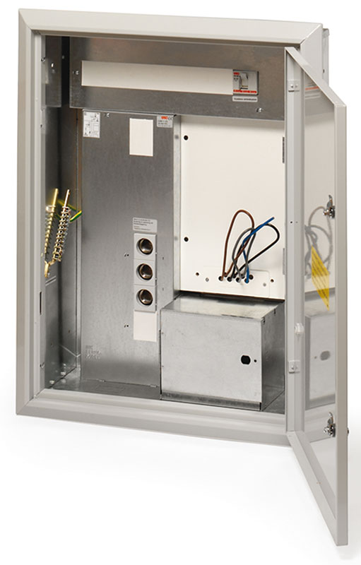 power pulse meter inside fuse box cabinet